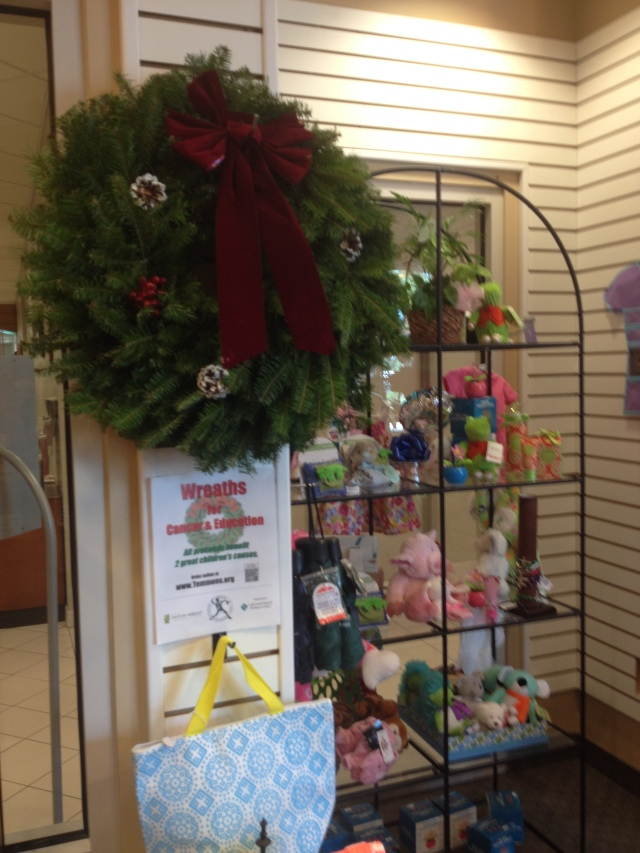 Pre Selling Wreaths in the gift shop of Lakewood Ranch Medical Center