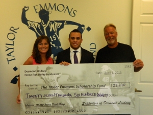 Desmond Lindsay gives back to the Taylor Emmons Scholarship Fund 2015